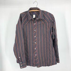 Patagonia organic cotton western shirt L snaps